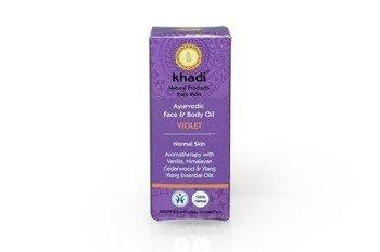 Ajurwedyjski olejek do twarzy i ciała z fiołkiem Khadi 10 ml