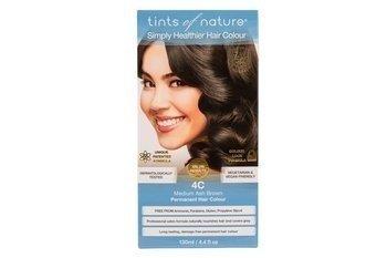 Naturalna farba do włosów Tints of Nature - 4C Średni popielaty brąz